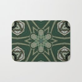 The Green Unsharp Mandala 4 Bath Mat