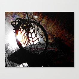 basketball art swoosh vs 4 Canvas Print