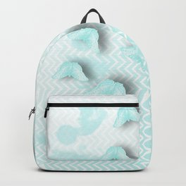 delicate butterflies on chevrons in blue Backpack