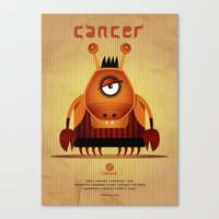 cancer Canvas Prints featuring CANCER by Angelo Cerantola