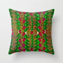 tree flower paradise of inner peace and calm pop-art Throw Pillow