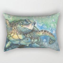 Sea Turtle Glides Rectangular Pillow