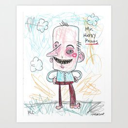 Mr. Happy Pants Art Print