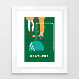 80s TEEN MOVIES :: HEATHERS Framed Art Print