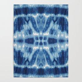 Tie Dye Blues Twos Poster