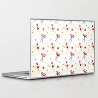 sewing Laptop & iPad Skins featuring Sewing fun by Samantha Eynon