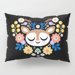 Floal Heart Deer / Cute Animal Pillow Sham