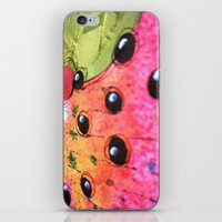hot pink iPhone & iPod Skins featuring hot pink by Kras Arts - Fly Me To The Moon