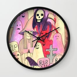 horror party funny pattern Wall Clock