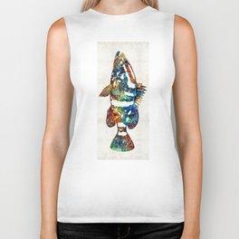 Colorful Grouper 2 Art Fish by Sharon Cummings Biker Tank