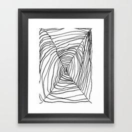 SPIDER WEB BY EDITH BOAM AGE 5 Framed Art Print
