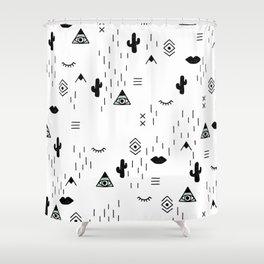 Indian summer aztec mayan symbol pattern Shower Curtain