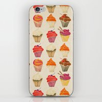 cupcakes iPhone & iPod Skins featuring Cupcakes by Cat Coquillette