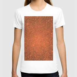 Amber Orange Sparkling Jewels Pattern T-shirt