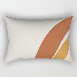 Earth Tones Rainbow Rectangular Pillow