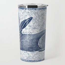 Rabbit print, Vintage Rabbit, Animal Wall Art Travel Mug