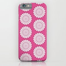 MINIMALIST MANDALA COLLAGE IV (DEEP HOT PINK MAROON) iPhone 6s Slim Case