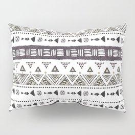 Native American Ornaments Watercolor Pattern Brown Pillow Sham