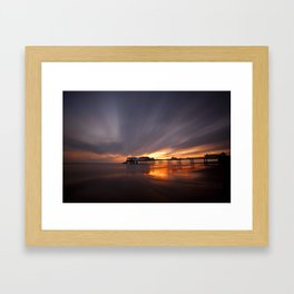 Cromer Pier Sunrise Framed Art Print