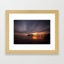 Cromer Pier Sunrise Framed Art Print
