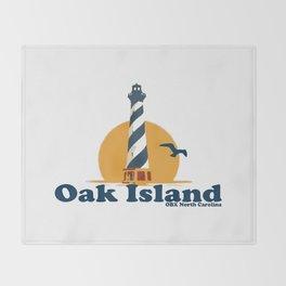 Oak Island - North Carolina. Throw Blanket