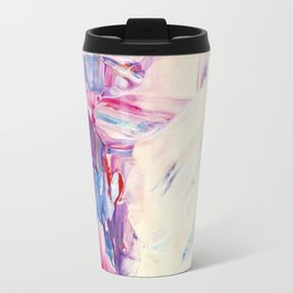 Electric blue, orange purple, hot pink, beige, cream - Abstract no.57 Travel Mug