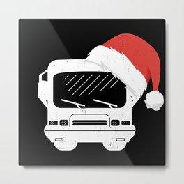 Classic Motorhome Hat Christmas Gift Metal Print