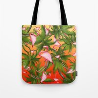 tropical Tote Bags featuring tropical  by mark ashkenazi