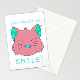 smile.cat (red lickorice flavour) Stationery Cards