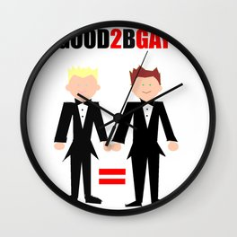 GOOD2bGAY Wall Clock