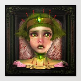 """Princess Envy"" by MiaSnow and Trindolyn Beck Canvas Print"