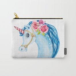 Head unicorn watercolor illustration Carry-All Pouch