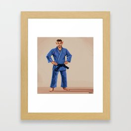 Karate Elf Framed Art Print