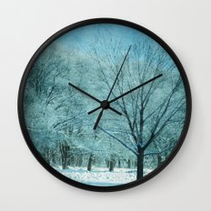 Morning Frost Wall Clock