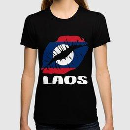 LAO Laos Kiss Lips Tee T-shirt