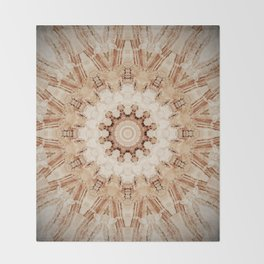 Decorative Marble Mandala Abstract Throw Blanket