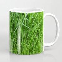 grass Mugs featuring grass by Кaterina Кalinich