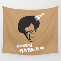 woody Wall Tapestries featuring Woody Harlem by Ale Faria