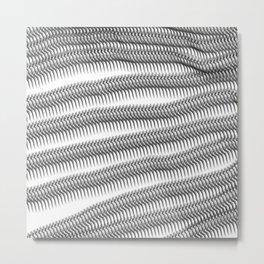 worm illusion Metal Print