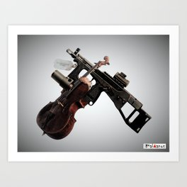 Violin vs. Violence Art Print