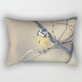 Blue and yellow tit Rectangular Pillow