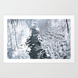 Snowfall at Brickworks on Christmas Day, 2020. LXX Art Print