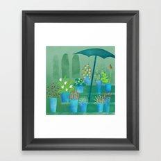 Flower Stall Framed Art Print