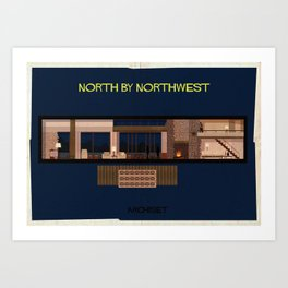 North by northwest__   Directed by Alfred Hitchcock Art Print