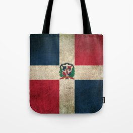 Old and Worn Distressed Vintage Flag of Dominican Republic Tote Bag