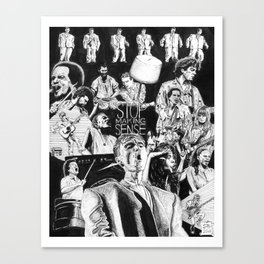 Stop Making Sense Retro Style Movie Poster Canvas Print