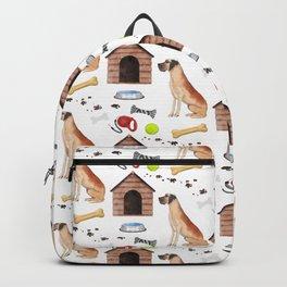 Great Dane Half Drop Repeat Pattern Backpack