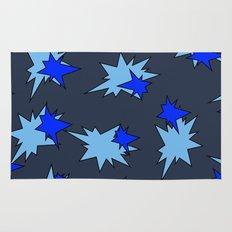 Stars (Navy & Sky on Blue) Rug
