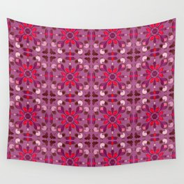 Abstract flower pattern 1a Wall Tapestry