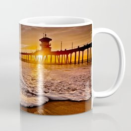 Surf City Sunsets -  Sunset At The Huntington Beach Pier 3/4/16 Coffee Mug